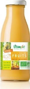 Jus de fruits bio Cocktail Multifruits Vitamont verre 25cl