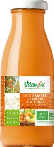 Jus de fruits bio Orange Carotte Citron Vitamont verre 25cl x 15