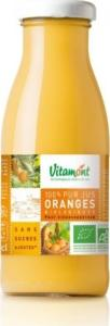 Jus de fruits bio Orange Vitamont verre 25cl x 15