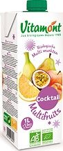 Jus de fruits Cocktail Multifruits bio Vitamont TETRA 1L x 10